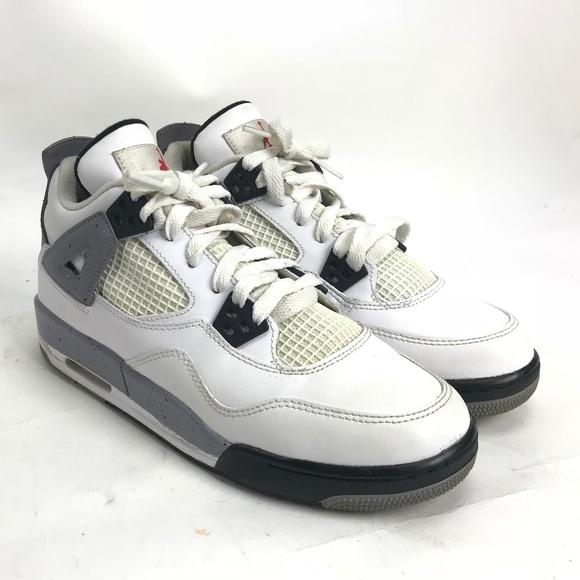 ca372b3f45b Jordan Other - Nike Air Jordan 4 Retro GS White Black Cement 6Y